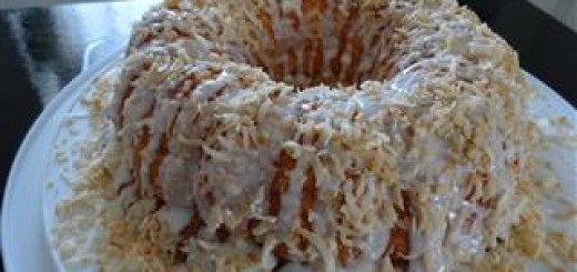 Pineapple Angel Food Cake With Toasted Coconut Glaze Recipe