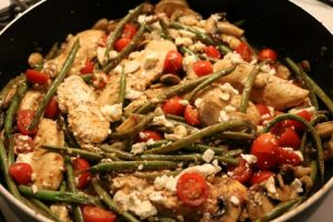 One Skillet Chicken And Green Beans Recipe 054 (Mobile)