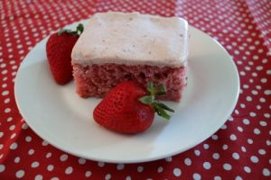 Frosted Strawberry Cake Recipe